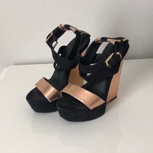 Copper and Black Wedges